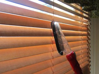 Our Dyson blind attachment enables us to efficiently clean your blinds.