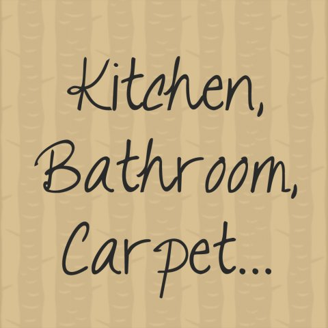 Kitchen, Bathroom, Carpet…